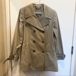 Juicy Couture khaki tan coat jacket size Large
